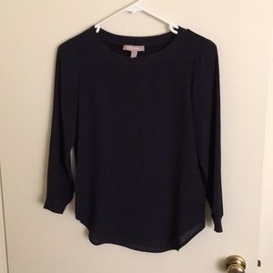 Navy blue Banana Republic blouse